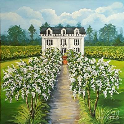 Plantation Home Art Print by Sandra Lett
