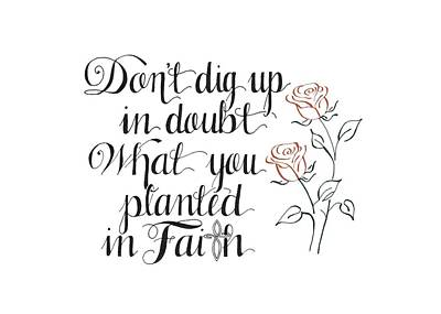 Doubting Drawing - Planted In Faith by Audra Dahl