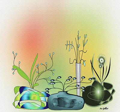 Digital Art - Planters by Iris Gelbart
