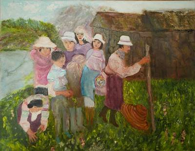 Painting - Planting Rice by Aleezah Selinger
