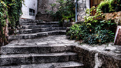 Photograph - Plants Grow In The Uneven Stairs Climbing Towards The Tower by Weston Westmoreland