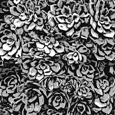 Digital Art - Plants Of Black And White by Phil Perkins