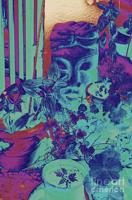 Shower Head Digital Art - Plants With Buddha Head by Jane Gatward