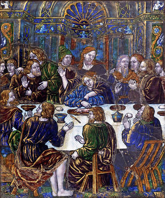 Painting -  Plaque With The Last Supper by Jean Penicaud I