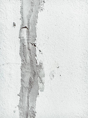 Rough Hands Photograph - Plaster On A Wall by Tom Gowanlock