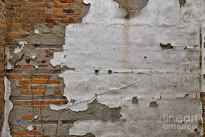 Photograph - Plaster On Brick by David Arment