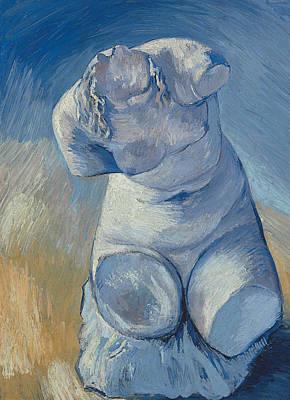 Female Torso Painting - Plaster Statuette Female Torso by Vincent Van Gogh