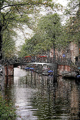 Photograph - Plastic Canal Bridge by Mark Alesse