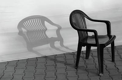 Photograph - Plastic Chair Shadow 1 by Prakash Ghai