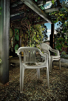 Photograph - Plastic Chairs by Yo Pedro