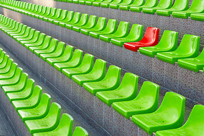 Spectators Mixed Media - Plastic Seats by Boyan Dimitrov