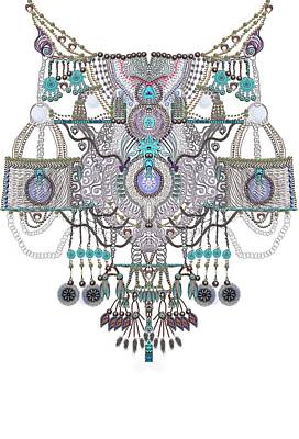 Plastron- Jewel Necklines Art Print