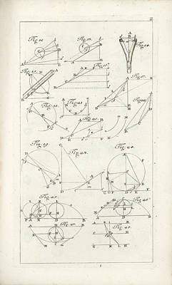 Drawing - Plate 2 From Tractatio De Theoria Descensus Et Ascensus Gravium Obliqui Ejusque Multiplici Applicati by Joseph Anton Zimermann