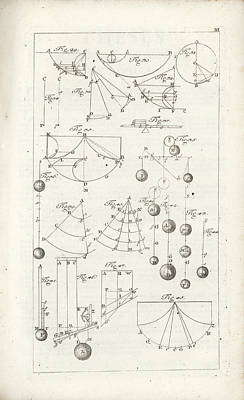 Drawing - Plate 3 From Tractatio De Theoria Descensus Et Ascensus Gravium Obliqui Ejusque Multiplici Applicati by Joseph Anton Zimermann