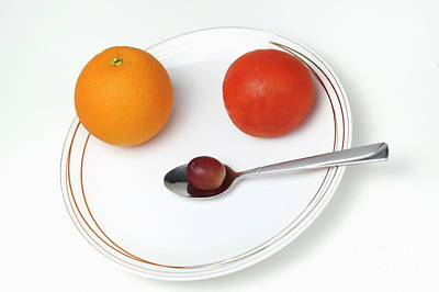 Tomatoe Wall Art - Photograph - Plate And Spoon With Fruits by Sami Sarkis