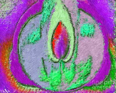 Painting - Plateau Guardian Spirit Of Mother Earth  Abstract Impressionist Art by Navin Joshi