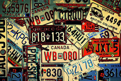 Plates Galore Art Print
