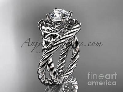 Jewelry - Platinum Celtic Trinity Twisted Rope Wedding Ring Rpct9320 by AnjaysDesigns com