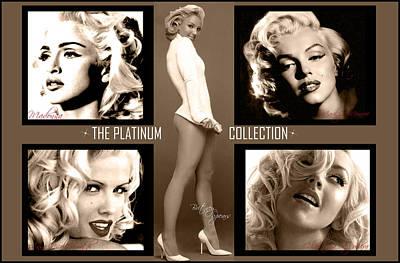 Madonna Digital Art - Platinum Collection by Anibal Diaz