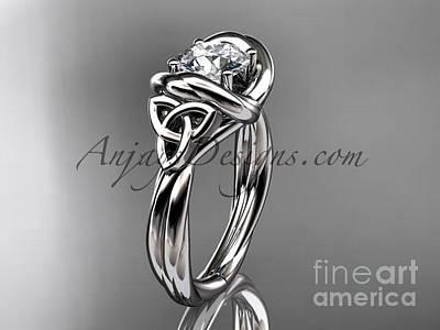 Jewelry - Platinum Trinity Celtic Twisted Rope Wedding Ring Rpct9146 by AnjaysDesigns com