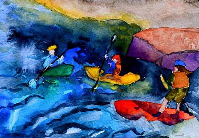 Platte River Paddling Original by Beverley Harper Tinsley
