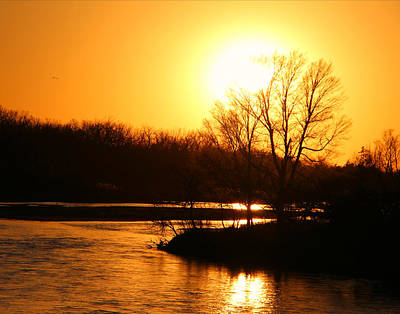 Photograph - Platte River Sunset by Kathy M Krause
