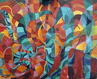 Art Print featuring the painting Platyhelminthes by Bernard Goodman