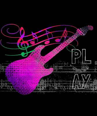 Digital Art - Play 5 by Guitar Wacky