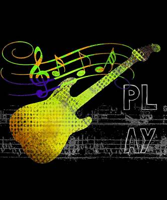 Digital Art - Play 2 by Guitar Wacky