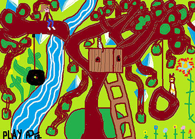Play Art Print by Anita Dale Livaditis