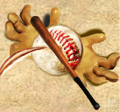 Painting - Play Ball by Belinda Threeths