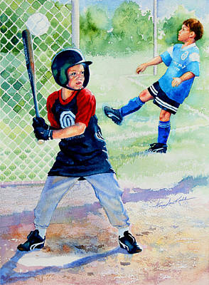 Sports Paintings - Play Ball by Hanne Lore Koehler