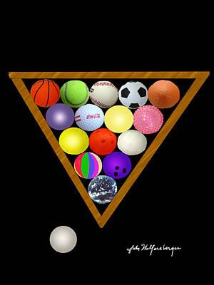 Ping Pong Digital Art - Play Ball by John Wolfersberger