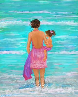 Painting - Play Day At The Beach by Leslie Allen