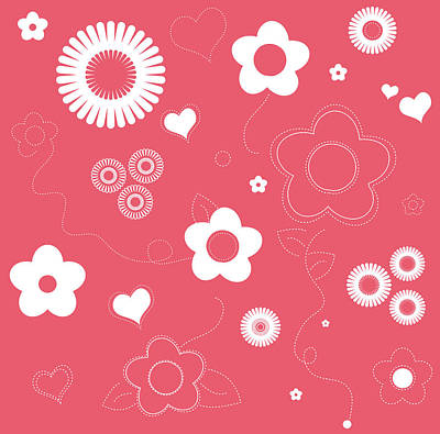 Playful Flower Background Art Print