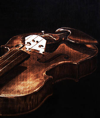Pyrography - Play Me - Detail by Dino Muradian