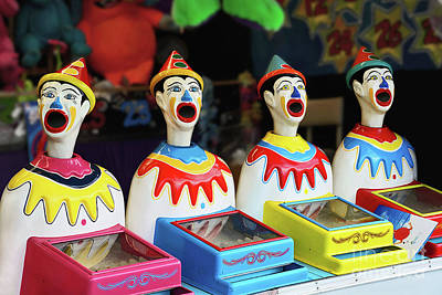 Photograph - Play Me - Carnival Clowns By Kaye Menner by Kaye Menner