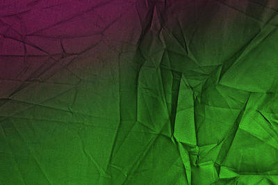 Photograph - Play Of Hues. Luminous Green And Tyrian Purple. Textured Abstract by Jenny Rainbow