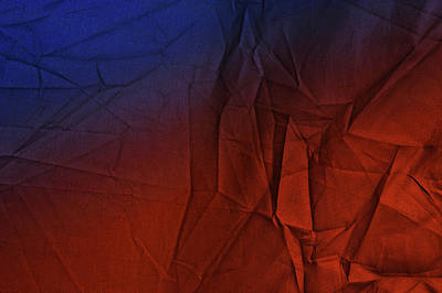 Brown Toned Art Photograph - Play Of Hues. Medum Blue And Orange Red. Textured Abstract by Jenny Rainbow