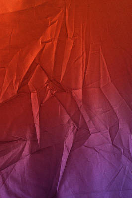 Photograph - Play Of Hues. Vibrant Orange Red  And Medium Orchid Purple. Textured Abstract by Jenny Rainbow
