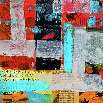 Mixed Media - Play Party Abstract by Nancy Merkle