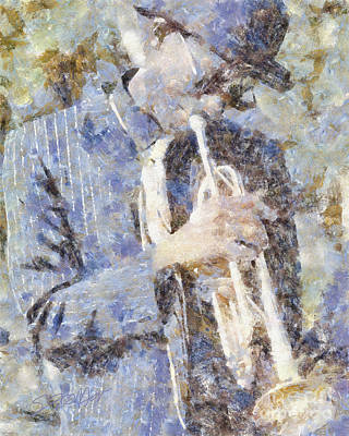Play The Blues Art Print by Shirley Stalter