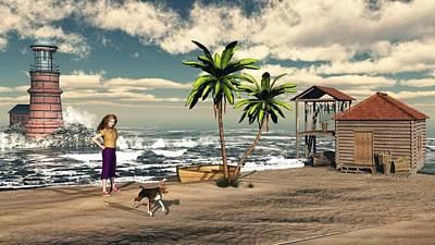 Play Time At The Beach Original by John Junek