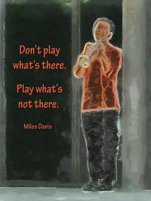 Digital Art - Play What's Not There by Leslie Montgomery