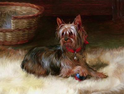 Cute Dog Mixed Media - Play With Me by Georgiana Romanovna