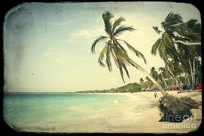 Playa Blanca In Colombia Art Print