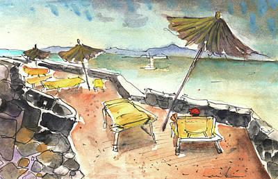 Lanzarote Painting - Playa Blanca In Lanzarote 03 by Miki De Goodaboom