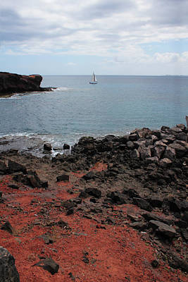 Atlantic Ocean Photograph - Playa Blanca - Lanzarote by Cambion Art