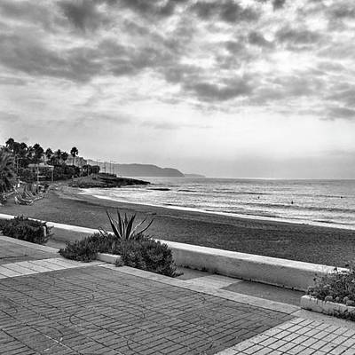 Travel Photograph - Playa Burriana, Nerja by John Edwards