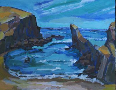 Painting - Playa Canary Islands by Doris  Lane Grey